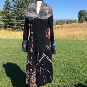 Griffolie Paris Black Long Mohair Sweater Sz-M